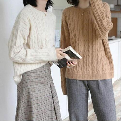 a maglione in a lunga a con collo maglia lavorato cashmere lunga per casual in manica pullover Camicette manica X0Ow8qxzn