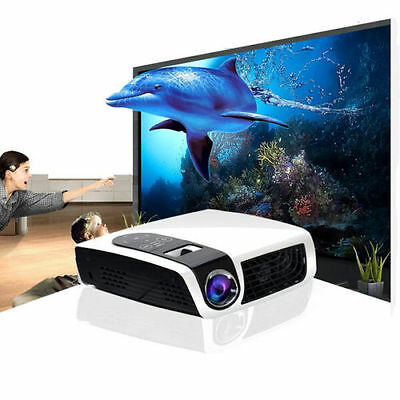 Mini Portable 1080P HD LED 3D Projector Perfect Home Theater Projector AV TV VGA