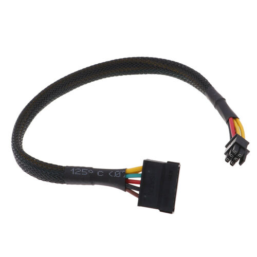HDD SSD power cable 6 Pin to SATA 15Pin converter cable for dell 3668 3667 3650X