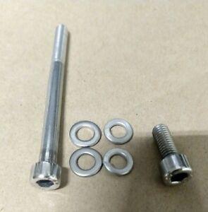 Honda TRX450R 450ER 400EX 400X oil filter cover polished stainless bolts screws