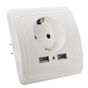 Haute-Qualite-Double-Alimentation-USB-EU-Plug-Chargeur-Adaptateur-norme-europeenne-prise-US