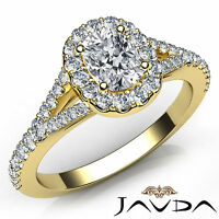 Halo Pave Set Cushion Cut Diamond Engagement Ring GIA H VVS2 18k Yellow Gold 1Ct