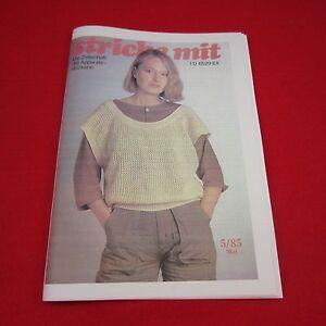 stricke mit 03//85 Nachdruck Zeitschrift Apparatestrickerei Tips Strickmaschine