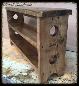 BENCH-WITH-DOUBLE-TILTED-SHOE-RACK-HAND-MADE-RUSTIC-PINE-WOOD-BENCH