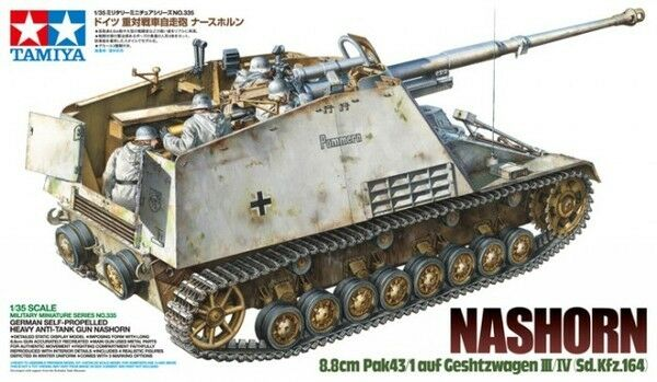 Tamiya 1 35 scale WW2 German Nashorn tank model kit