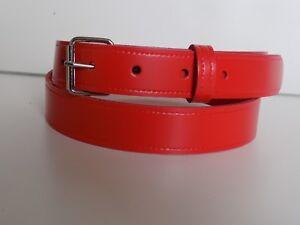 Cinturones-De-Cuero-Rojo-segundos-leve-Tallas-S-a-XL-25-mm-TR1-2-99-cada-uno