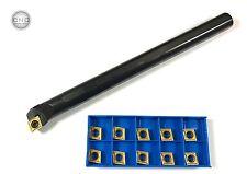 Bohrstange rechts Ø =16 mm SCLCR09 + 10 Wendeplatten CCMT09T304 TiN Stahl Neu