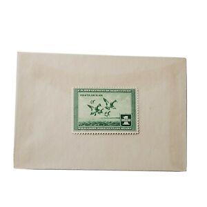 US Federal Duck Stamp Scott# RW4 $1 1937 Migratory Bird Hunting NH OG Unused