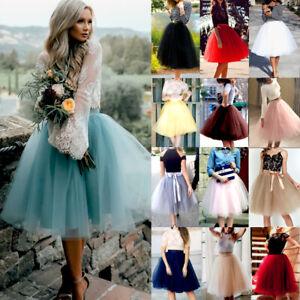 USA-Women-7-Layers-Tulle-Skirt-Long-Dress-Princess-Girls-Ballet-Tutu-Dance-Skirt