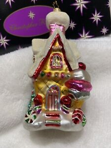 Christopher Radko *NEW* A Delectable Dwelling Gingerbread Christmas Ornament