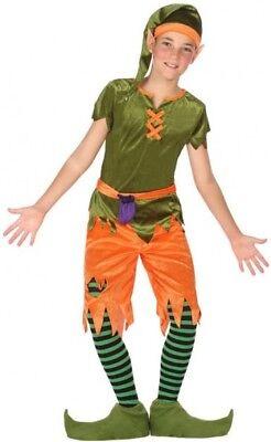 Filles Jardin Gnome Costume Kids Elf Nain Déguisement Tenue Conte De Fée Noël