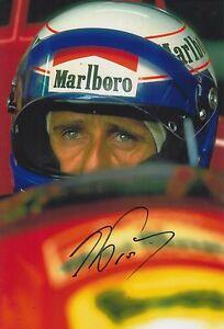 Alain-Prost-Hand-Signed-12x8-Photo-Scuderia-Ferrari-F1-1
