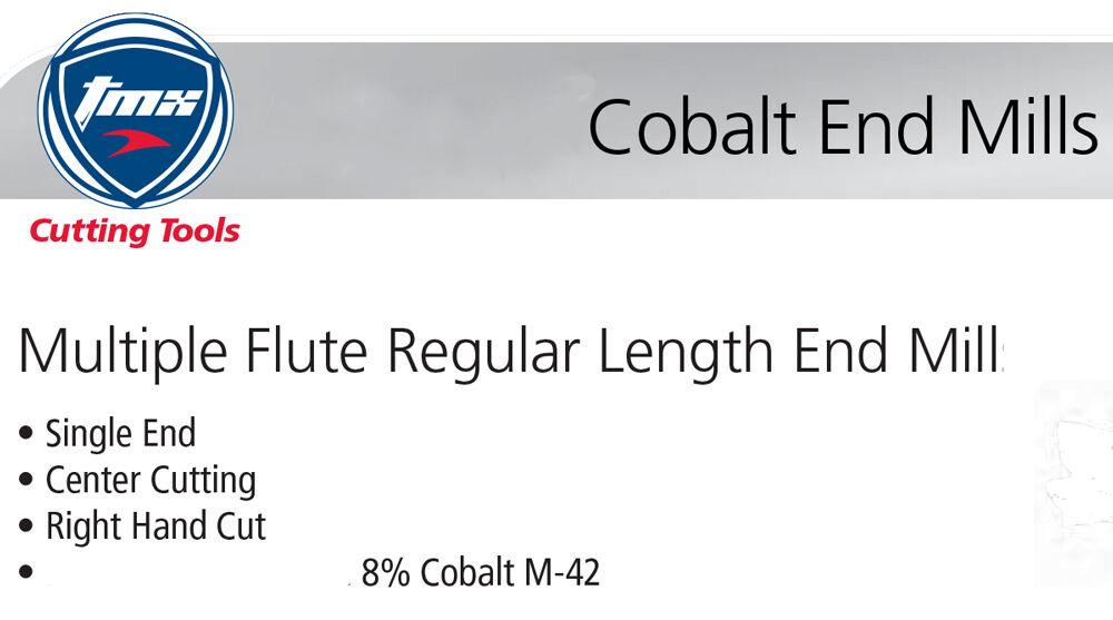 "15//32/"" Diameter 4 Flute Single End Center Cutting M-42 Cobalt End Mill Toolmex"