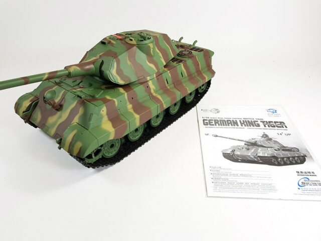 2 4ghz German Tiger 1 Radio Control RC Military Army World War Tank