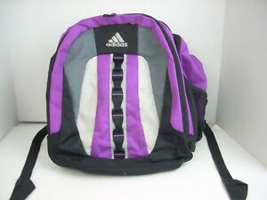 6d5e64ff5b Adidas Backpack Bag Purple Gray   Black Mesh School Padded Laptop ...