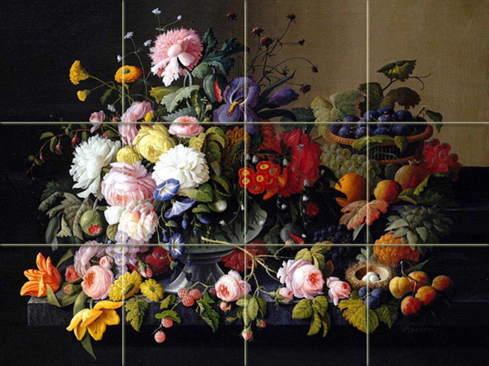 17 X 12.75 art Still Life FFaibleers fruit céramique murale dosseret Bain voiturerelage  1804