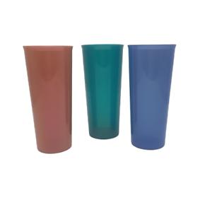 Tupperware-Lot-of-3-Jewel-Tone-Tumbler-Cups-6-5-034-Tall
