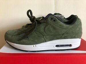 Nike-Air-Max-1-Premium-Olive-Canvas-875844-301-Airmax-Mens-Shoes-Running-Sneaker