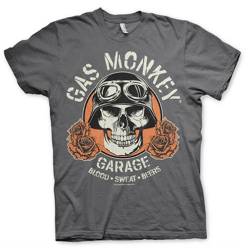 Official Gas Monkey Garage Skull Grey Unisex T-Shirt Licensed Tee