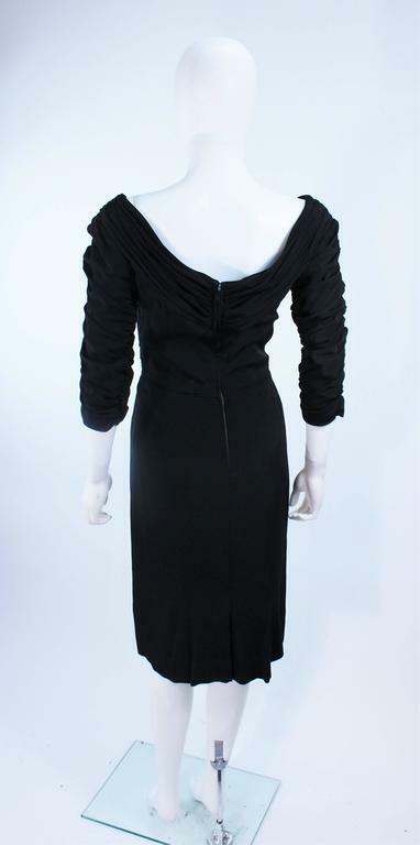 CEIL CHAPMAN Black Gathered Cocktail Dress Size 4… - image 9