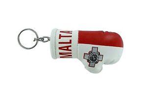PORTACHIAVI-pelle-porta-chiavi-auto-keychain-Guantoni-da-boxe-bandiera-malta