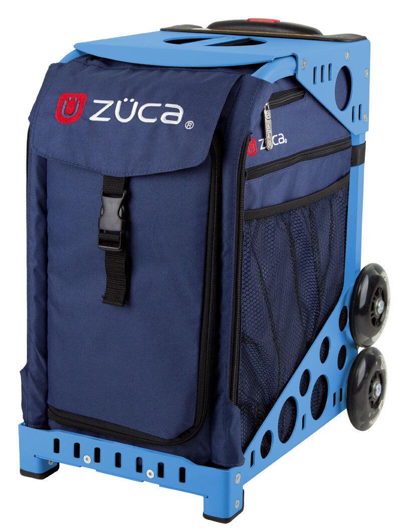 ZUCA Bag MIDNIGHT Insert & bluee Frame w Flashing Wheels - FREE SEAT CUSHION