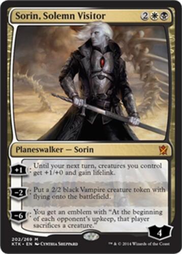 M SP MTG Magic - Khans of Tarkir Solemn Visitor Sorin