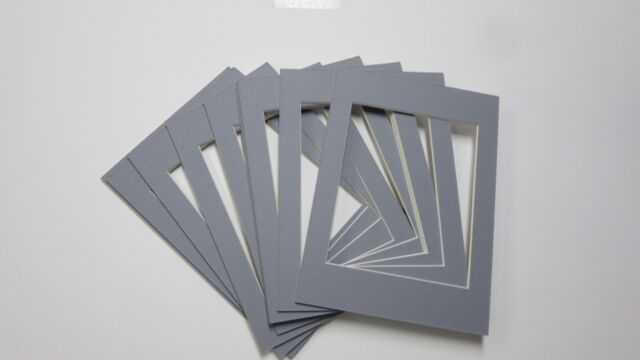 Picture Frame Mat Set Of 10 Mats 5x7 For 4x5 Photo Harbor Gray Color