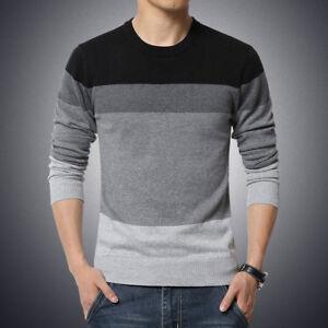 d350d323b8049 Camisa para hombre del suéter Slim Fit de manga larga hombres ...
