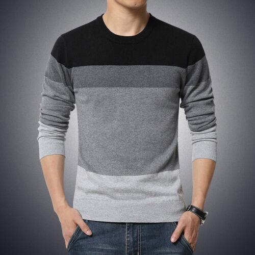 Camisa para hombre del Suéter Slim Fit de manga larga hombres suéteres Casual