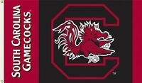 Ncaa South Carolina Fighting Gamecocks 2-sided 3-by-5 Foot Flag, New, Free Shipp on sale