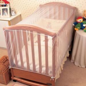Insect-Net-Fine-Pre-Shaped-White-Mesh-for-Baby-Cot-amp-Cot-Be-Secure-Drape-Cover
