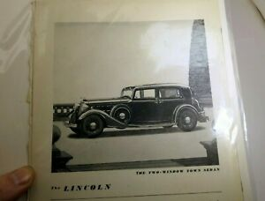 V-12-Lincoln-Town-Sedan-1932-Magazine-clippings-advertisement-3200-at-Detroit