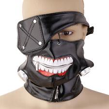 Tokyo Ghoul Kaneki Ken Anime Halloween Party Prop Blk Zipper Mask Adjustable