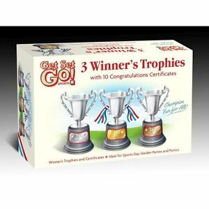 1st 2nd 3rd winners trophies 10 congrats certificates sports day
