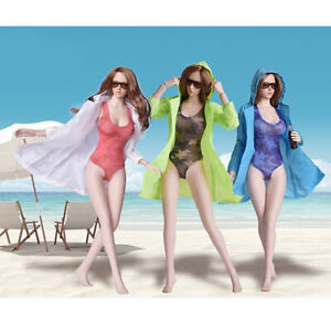 1//6 Scale Female One Piece Training Swimsuit Bathing Suit for 12/'/' Hot Toys A#