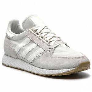 Detalles de Zapatos Adidas de Hombre Forest Grove CG5672 Beis Zapatillas Deportivo Lona