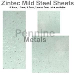 ZINTEC COATED MILD STEEL Sheet Guillotine Cut From UK Metal Distributor