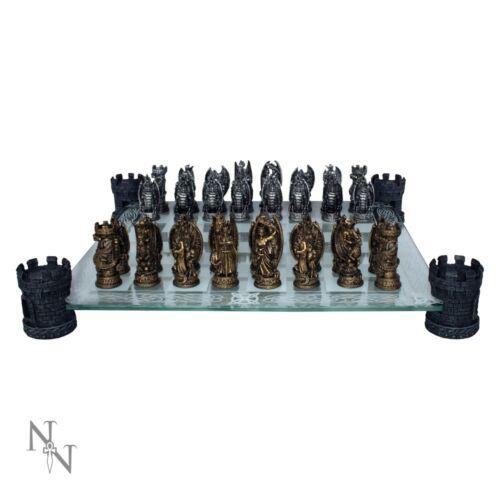 KINGDOM OF THE DRAGON CHESS SET NEMESIS NOW GOTHIC FANTASY GIFT GAME 43cm