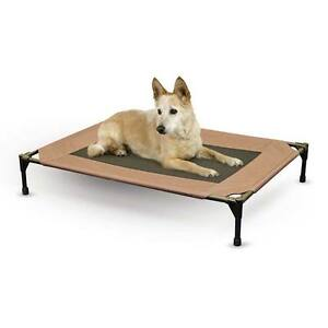 K-amp-H-Pet-Product-Dog-Pet-Bed-Cot-Med-Chocolate-Waterproof-25-034-x-32-034-x-7-034-KH1615
