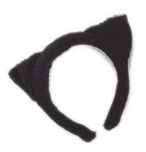 CAT EARS BLACK FUR, CATWOMAN, HALLOWEEN, FANCY DRESS COSTUME ACCESSORIES #US