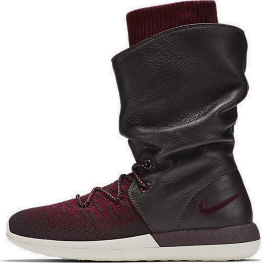 Nike Women's Roshe Two Hi Flyknit Deep Burgundy Size 7.5 & 8 Only 861708-600