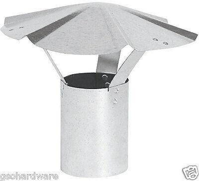 6 inch Round RAIN CAP Galvanized Heater Stove Pipe VENT CAP  New!