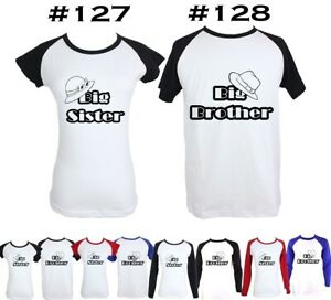 Big-Brother-Big-Sister-Funny-Design-Pattern-Boy-039-s-Girl-039-s-Couple-T-Shirt-Tee-Tops