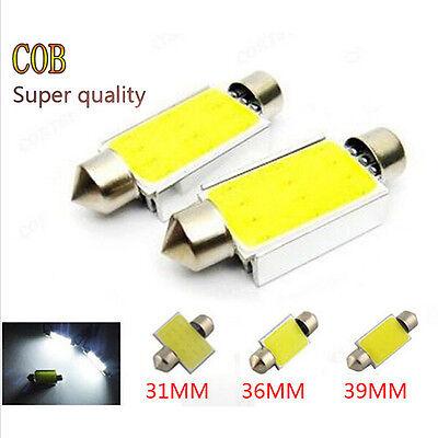New 2x White Festoon Cob Led 39MM 3W 12V Car LED Lighting Lamp