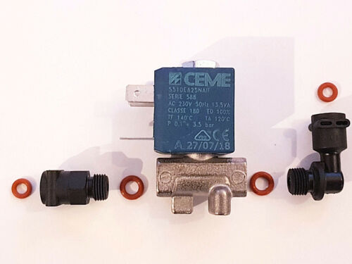 DELONGHI ESAM vapeur électrovanne valve solenoid valve 2weg métal article neuf