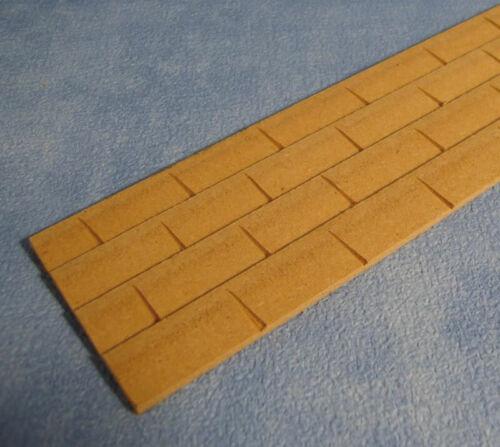 1//12 SCALA Streets Ahead casa delle bambole in legno rettangolare TEGOLE foglio DIY065