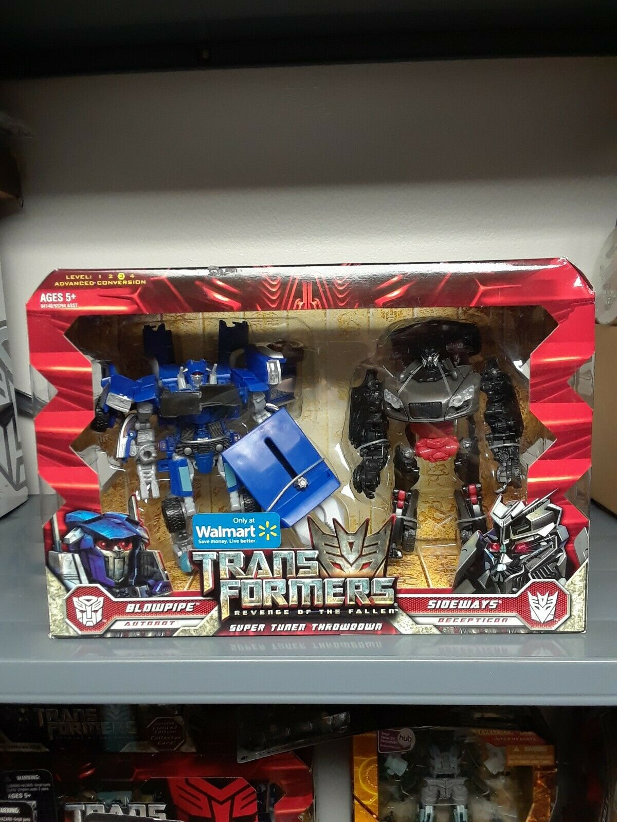 "SIDEWAYS Transformers Movie 2 ROTF Legends Class 3/"" inch Decepticon Figure 2009"