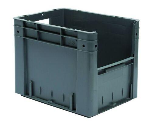 LxBxH Schwerlast-Stapelkasten mit Sichtöffnung VTK 400//320-4 400x300x320mm