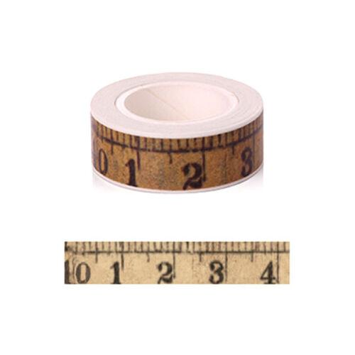 MAßBAND Masking Tape 1,5cm x 10m DECOTAPE Klebeband Washi p00st0108v